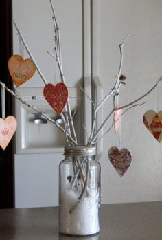 Valentine tree centerpiece