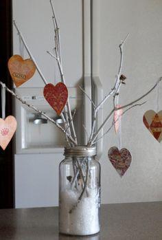 Valentine tree centerpiece
