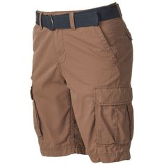 Big & Tall Men's SONOMA Goods for Life™ Belted Cargo Shorts ($18) ❤ liked on Polyvore featuring men's fashion, men's clothing, men's shorts, dark green, men's apparel, big and tall mens clothing, mens big and tall cargo shorts, mens cargo shorts and big & tall mens clothing