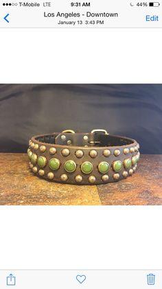 15Wide Handmade Latigo leather dog collar by Kingcustomleather