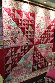 Parisville Quilt by Tula Pink, quilting by Angela Walters