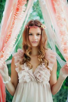 flower crown wedding hair