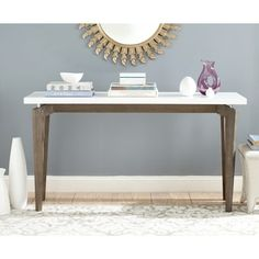 Shop for Safavieh Mid-Century Modern Josef White/ Dark Brown Lacquer Console. Get free shipping at Overstock.com - Your Online Furniture Outlet Store! Get 5% in rewards with Club O!