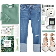 A fashion look from April 2016 featuring Blair sweatshirts, Zara jeans and Gianvito Rossi pumps. Browse and shop related looks.