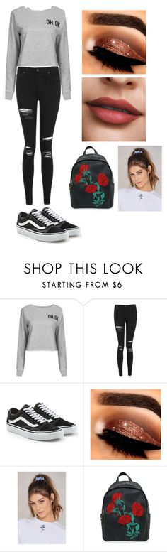 """Untitled #3"" by the-kylie on Polyvore featuring Topshop, Vans and NA-KD"