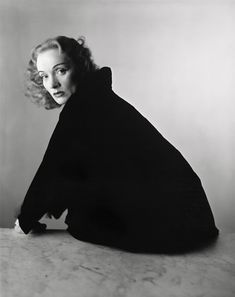 'A man would prefer to come home to an unmade bed and a happy woman than to a neatly made bed and an angry woman.' Marlene Dietrich (portrait by Irving Penn)