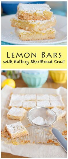These lemon bars with buttery shortbread crust are perfectly sweet and tangy and are very easy to make. They are little bars of sunshine!