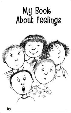 """My Book About Feelings printable. Maybe make one book for everyone to """"use"""" since they're too young to color well and write..."""