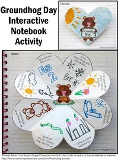 Groundhog Day: In this printable Groundhog Day craft activity, your students will draw or write about Groundhog Day. You will also love its flexibility.  https://www.teacherspayteachers.com/Product/Groundhog-Day-Craft-1637573