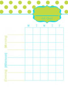 Printable Job Charts for Kids {Free Download} | The Creative Mom