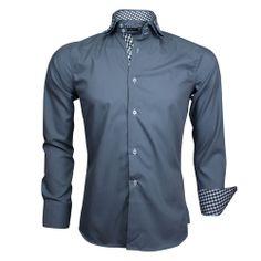 Do en Co-Italiaans Overhemd-Dubbele Kraag-Grijs-2013-108
