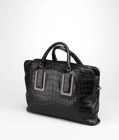 Nero Soft Crocodile Briefcase - Men's Bottega Veneta® - Shop at the Official Online Store