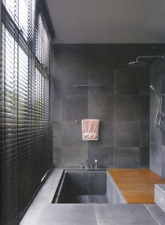 soaking tub shower combination | Found on hcmddesign.com