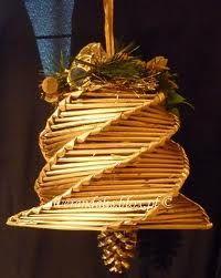 Znalezione obrazy dla zapytania ozdoby bożonarodzeniowe z papierowej wikliny