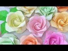 【折り紙】[難]×2 あれから1年、再び「1分ローズを折ってみた」1minute Rose - YouTube