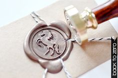 B20 Wax Seal Stamp Animal Horse Standing