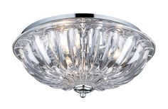 Elk Lighting 31242/3 Polished Chrome 3 Light Flushmount Ceiling Fixture from the Crystal Flushmounts Collection