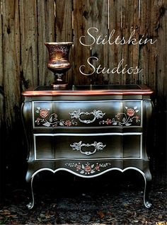 Smoke & Copper Modern Masters Metallic Paint | Metallic Furniture Transformation by Stiltskin Studios