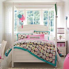 Decoração de quartos femininos coloridos