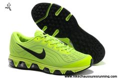 hot sales a421b 7b83d 2014 Chaussures Nike Air Max Tailwind 6 Hommes Chaussures Bling Vert Noir  Nike Shoes Cheap,