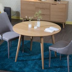 Table à manger ronde en chêne massif Nordic decodesign / Décoration