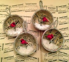 Winter Bird Diorama Ornament tutorial, from *Rook No. 17: recipes, crafts & whimsies for spreading joy