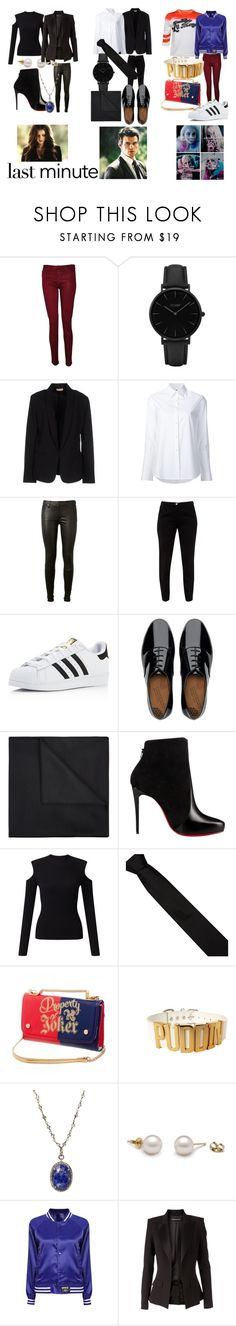 """""""Last - Minute Halloween Costume"""" by emma-esselmark on Polyvore featuring Hudson, CLUSE, Maesta, Misha Nonoo, AG Adriano Goldschmied, Ted Baker, adidas, FitFlop, BOSS Black and Christian Louboutin"""