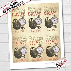 Instant Download Escape Room Party Invitations 5x7 4x6