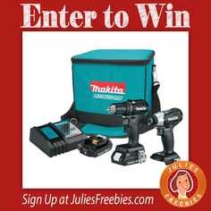 Facebook Twitter PinterestHere is an offer where you can enter to win a Makita Drill Combo Kit, from Coptool. PRIZES – (1) Grand Prize – Makita 18V Black Sub-Compact Cordless CX200RB Combo Kit. ENTRY – One Time Entry. ENDING – November 30, 2016. ENTER HERE