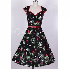 Vintage Sweetheart Neckline Color Matching Sleeveless Dress For Women