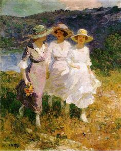 wonderingaboutitall:  Walking In The Hills - Edward Henry Potthast