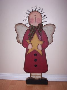Christmas Craft Projects   Christmas Angel - she can stand on a base, or be hung on the wall, $55 ...