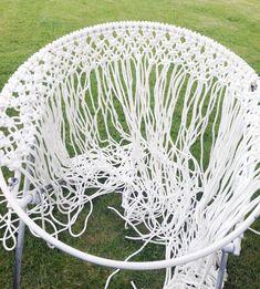 DIY Hanging Macramé Chair