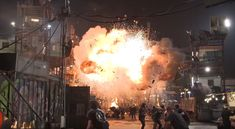 Big explosions on the set of Ready Player One See more behind the scenes photos at The Bearded Trio