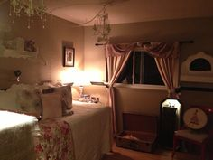 My girls newly decorated room. So sweet :)