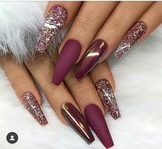 If you want to change your Manicure style and you want to wear the Unique & Fresh Look of Long Nails then this post for you. Check out our Best Selection and stylish nails ideas for long nails. Must wear it this style and go rock in these days. Glam Nails, Cute Nails, My Nails, Pretty Nails, Nails Today, Blush Nails, Glittery Nails, Nagellack Design, Nagellack Trends