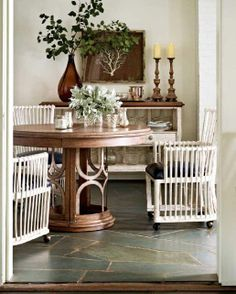 Stanley Furniture Archipelago Monserrat Round Pedestal Table Set with Castered Club Chairs - Fashion Furniture - Dining Room Furniture, Dining Room Table, Entryway Tables, Dining Rooms, Round Dining Room Sets, Dining Set, Stanley Furniture, Business Furniture, High Quality Furniture