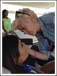 @alessiaventura durante il backstage shooting della collezione spring-summer 2015 di Snelly Intimo.