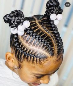 Black Baby Girl Hairstyles, Little Girls Natural Hairstyles, Little Girl Braid Hairstyles, Little Girl Braids, Kids Braided Hairstyles, Toddler Hairstyles, Natural Hair Braids, Braids For Black Hair, Natural Hair Styles