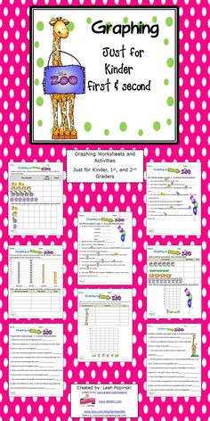 Activities and worksheets to strengthen and practice graphing skills with a fun zoo theme. Adorable graphics that are very motivating for students-especially for a field trip to the zoo! $3