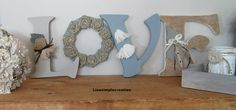 Wooden letters Love signs Farm house decor by LiseSimpleCreation