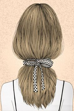 Polka Dots Ponytail by meandacupofhotchoc on Etsy