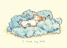 I love by Bed ~ Anita Jeram Illustration Cute Drawings, Animal Drawings, Art And Illustration, Anita Jeram, Cute Mouse, Cute Art, Illustrators, Cute Pictures, Sketches