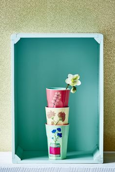 pretty melamine latte cups by RICE coming soon to Pinks & Green