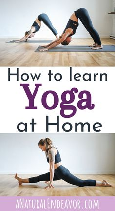 How to learn Yoga from home. Yoga is over a thousand year old practice, good for exercise, mental health, and overall wellness. This beginners guide to Yoga poses will help you understand some basic yoga movements, as well as learn a short yoga sequence that you can do everyday. #howtodoyogaathome #yogaposes #beginnersyogaguide