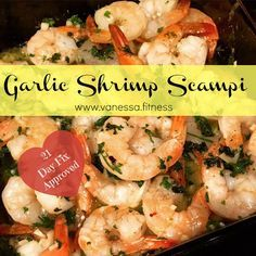 21 Day Fix, with container equivalents, delicious shrimp scampi.