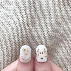 Cute Nail Art, Cute Acrylic Nails, Cute Nails, Pretty Nails, My Nails, Natural Nail Designs, Gel Designs, Cute Nail Designs, Gel Nagel Kit