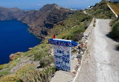 The best thing to do in Santorini is the hike from Fira to Oia.