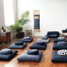 DharmaCrafts Ikat Meditation Cushions for beautiful, sacred spaces Meditation Raumdekor, Meditation Room Decor, Meditation Pillow, Yoga Studio Design, Meditation Supplies, Zen Space, My New Room, Lounge, Decoration