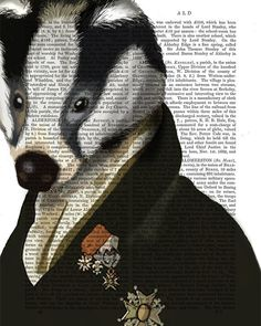 Badger the Hero: Digital painting dictionary page by FabFunky